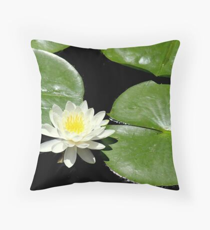 Lily of the Pond Throw Pillow