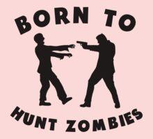 Born To Hunt Zombies Kids Tee