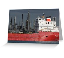 Freighter and Factory 6 Greeting Card