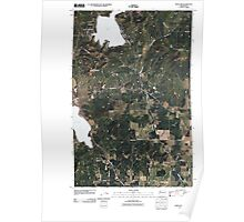 USGS Topo Map Washington State WA Deer Lake 20110406 TM Poster