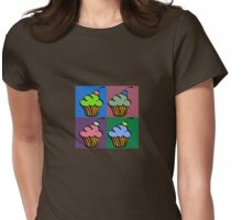 4 Square Cupcakes Womens Fitted T-Shirt