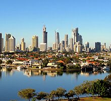 Gold Coast City Morning by Kathie Nichols