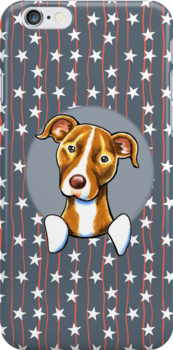 Stars & Stripes American Pit Bull Terrier by offleashart