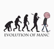 Evolution Of Manc One Piece - Short Sleeve