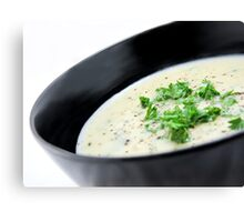 Cauliflower with Blue Vein Cheese soup Canvas Print