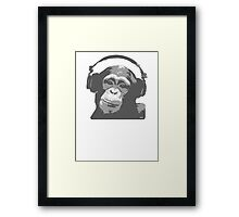 DJ MONKEY Framed Print