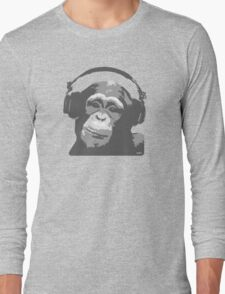 DJ MONKEY Long Sleeve T-Shirt