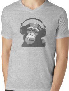 DJ MONKEY Mens V-Neck T-Shirt