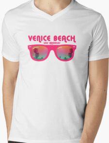 Venice Beach Sunglasses reflect Mens V-Neck T-Shirt