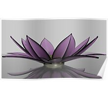 Frosted Glass Flower Bowl Poster