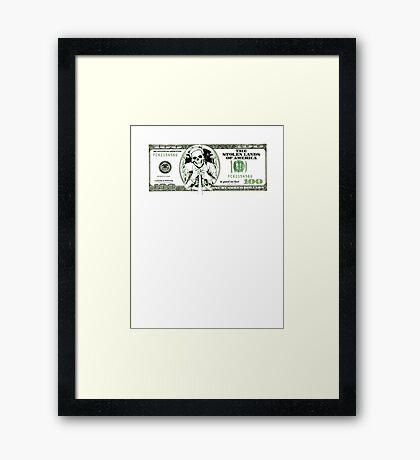 sarcastic 100 dollars bill Framed Print