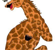 Giraffe Laugh by redqueenself