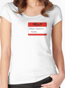 HELLO my name is...Albus Severus Potter! Women's Fitted Scoop T-Shirt