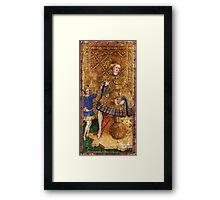 Medieval King painting Framed Print