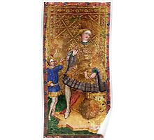 Medieval King painting Poster