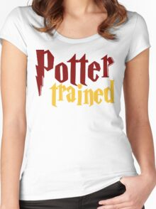 Potter Trained! Women's Fitted Scoop T-Shirt