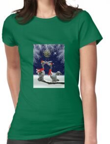 Passionate Pelicans Christmas Card Womens Fitted T-Shirt