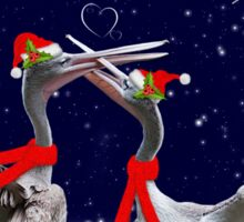 Passionate Pelicans Christmas Card Sticker