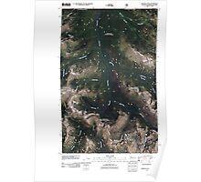 USGS Topo Map Washington State WA Ashnola Pass 20110427 TM Poster