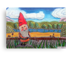 348 - THE GNOME - DAVE EDWARDS - COLOURED PENCILS - 2012 Canvas Print