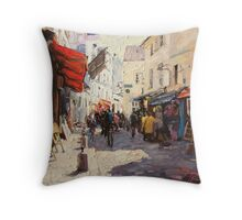 Sunny Monmartre Throw Pillow