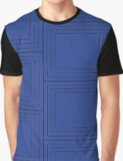 Blue Squares Graphic T-Shirt