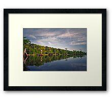 Blue Cypress Lake #3. Framed Print