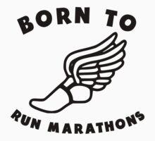 Born To Run Marathons Kids Clothes