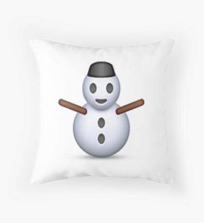 Snowman Emoji - CHRISTMAS Throw Pillow