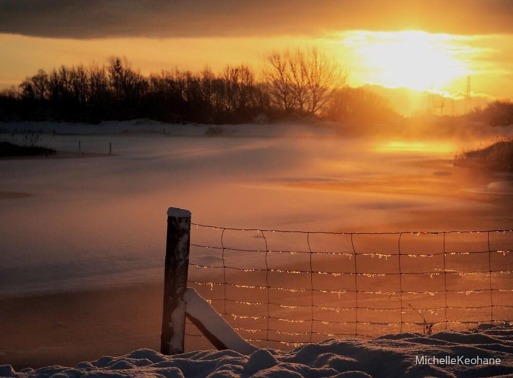 Snowy Hendre Lake Sunrise by MichelleKeohane