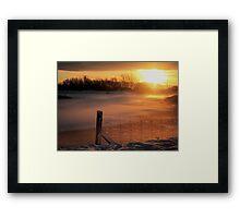 Snowy Hendre Lake Sunrise Framed Print