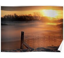Snowy Hendre Lake Sunrise Poster