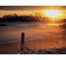 Snowy Hendre Lake Sunrise Photographic Print