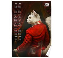 2016 Calendar — The Hermitage Court Chamber Herald Cat Poster
