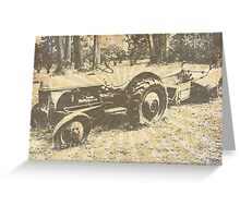 Olde Tractor Greeting Card