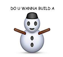 'Do u wanna build a snowman' Emoji - CHRISTMAS by Internet Noob