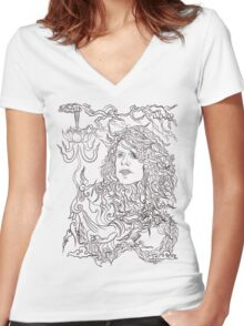 WayNine Five Women's Fitted V-Neck T-Shirt