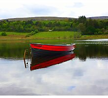 Lough Fern Fishing Boat Photographic Print