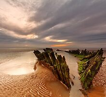 The Burnham on sea shipwreck by Andy Fox