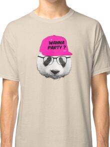 Panda - Wanna Party Cap Classic T-Shirt