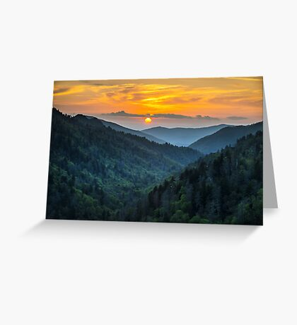 Smoky Mountains Sunset Great Smoky Mountains Gatlinburg TN Greeting Card