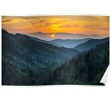 Smoky Mountains Sunset Great Smoky Mountains Gatlinburg TN Poster