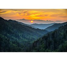 Smoky Mountains Sunset Great Smoky Mountains Gatlinburg TN Photographic Print