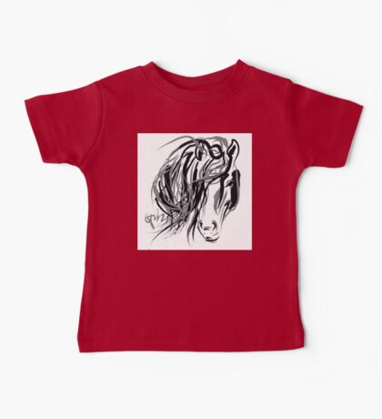 Hair and horse Baby Tee