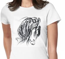Hair and horse Womens Fitted T-Shirt