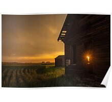 Sunset on the Homestead. Poster