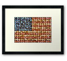 Baseball Flag - America's Past time Framed Print