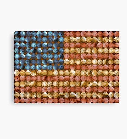 Baseball Flag - America's Past time Canvas Print