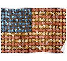Baseball Flag - America's Past time Poster