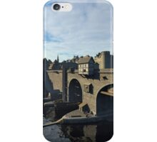 Medieval Bridge and Old Town with Castle iPhone Case/Skin